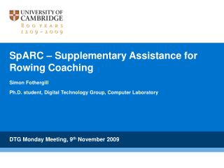 SpARC – Supplementary Assistance for Rowing Coaching
