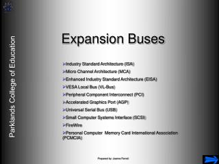 Expansion Buses