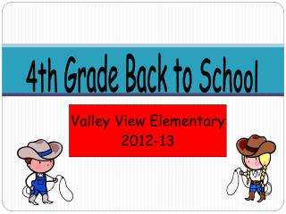 4th Grade Back to School
