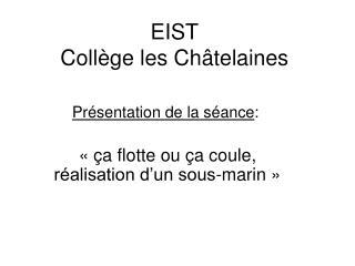 EIST Collège les Châtelaines