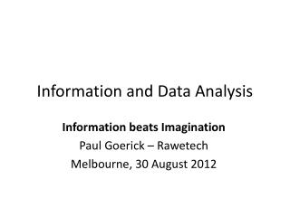 Information and Data Analysis