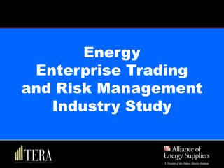 Energy  Enterprise Trading  and Risk Management  Industry Study