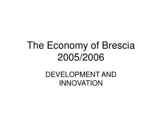 The Economy of Brescia 2005/2006