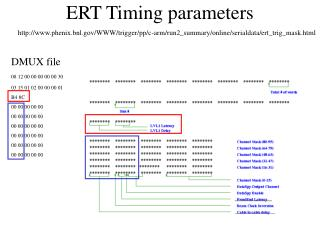 ERT Timing parameters