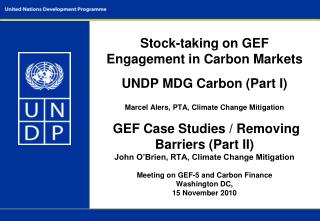 UNDP and Climate Finance