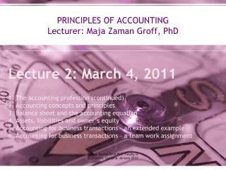 Maja Zaman Groff PhD, Faculty of Economics, Ljubljana, January 2010