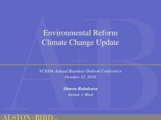 Environmental Reform Climate Change Update