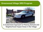 Greenwood Village SRO Program