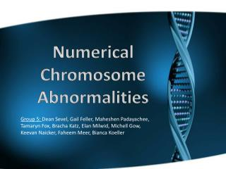 Numerical Chromosome Abnormalities