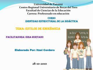 Universidad de Panamá Centro Regional Universitario de Bocas del Toro