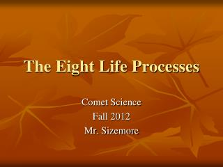 The Eight Life Processes