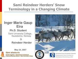 Sami Reindeer Herders' Snow Terminology in a Changing Climate