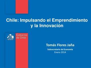 Tomás Flores Jaña Subsecretario de Economía Enero 2014