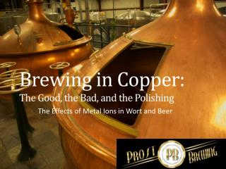 Brewing in Copper:  The  Good , the  Bad,  and the Polishing