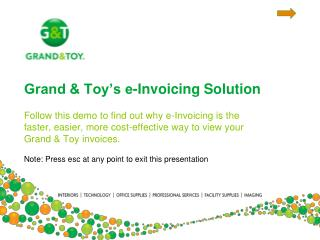 Grand & Toy�s e-Invoicing Solution