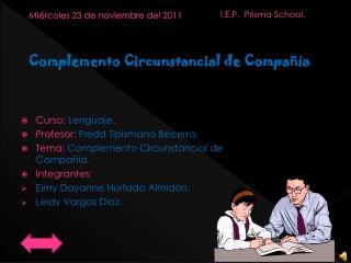 Miércoles 23 de noviembre del 2011