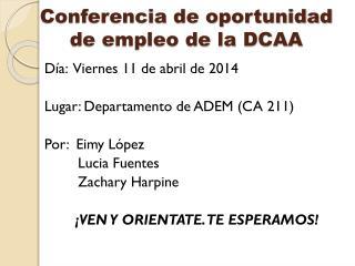 Conferencia de oportunidad  de empleo de la DCAA