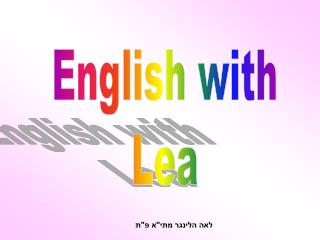 English with Lea