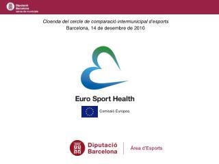 Cloenda del cercle de comparació intermunicipal d'esports Barcelona, 14 de desembre de 2010