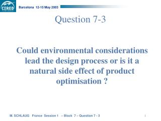 Question 7-3