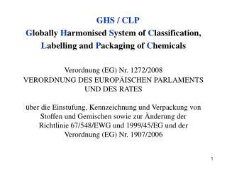 GHS / CLP