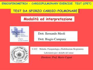 TEST DA SFORZO CARDIO-POLMONARE
