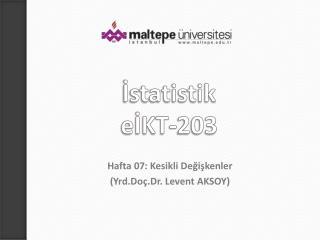 İstatistik eİKT-203
