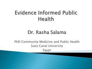 Evidence Informed Public Health