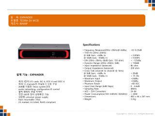 품   목 :  EXPANDER 모델명 :  TESIRA EX-MOD 제조사 :  BIAMP