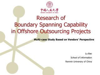 Research of  Boundary Spanning Capability  in Offshore Outsourcing Projects