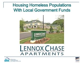 Housing Homeless Populations With Local Government Funds