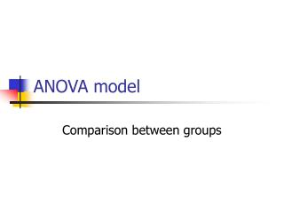ANOVA model