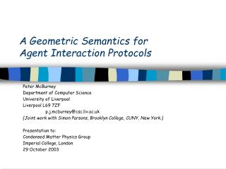 A Geometric Semantics for Agent Interaction Protocols