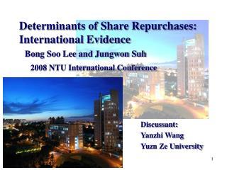 Discussant: Yanzhi Wang Yuzn Ze University