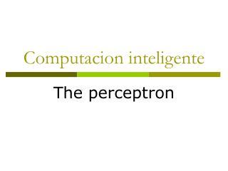 Computacion inteligente