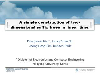 A simple construction of two-dimensional suffix trees in linear time