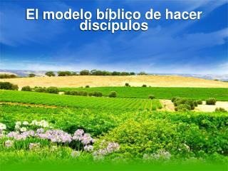 El modelo bíblico de hacer discípulos
