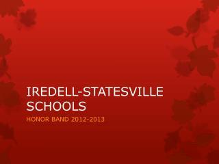 IREDELL-STATESVILLE SCHOOLS