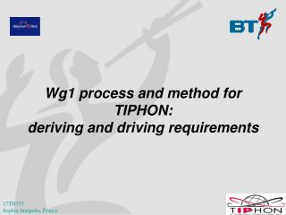Wg1 process and method for TIPHON: deriving and driving requirements