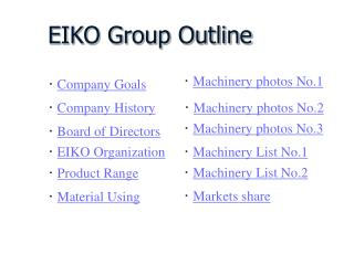 EIKO Group Outline