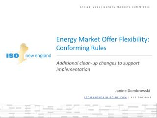 April8, 2014| NEPOOL MARKETS COMMITTEE