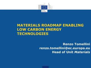 MATERIALS ROADMAP ENABLING  LOW CARBON ENERGY TECHNOLOGIES