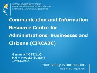 Gennaro  MOZZILLO  R.6 – Process Support 19/03/2014
