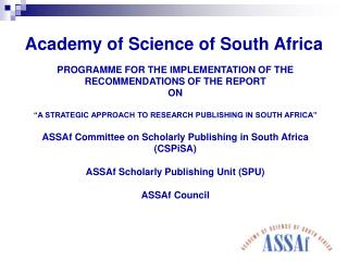 Academy of Science of South Africa