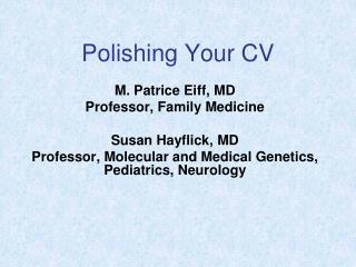 Polishing Your CV