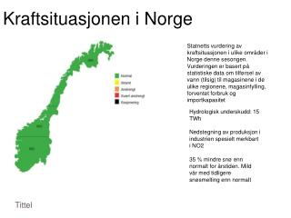 Kraftsituasjonen i Norge
