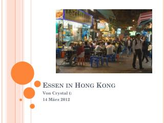 Essen in Hong Kong