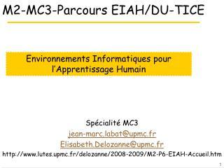 M2-MC3-Parcours EIAH/DU-TICE