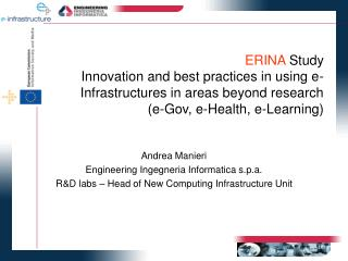 Andrea Manieri Engineering Ingegneria Informatica s.p.a.