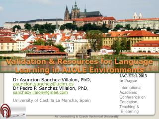 Validation & Resources for Language Learning in AIOLE Environments